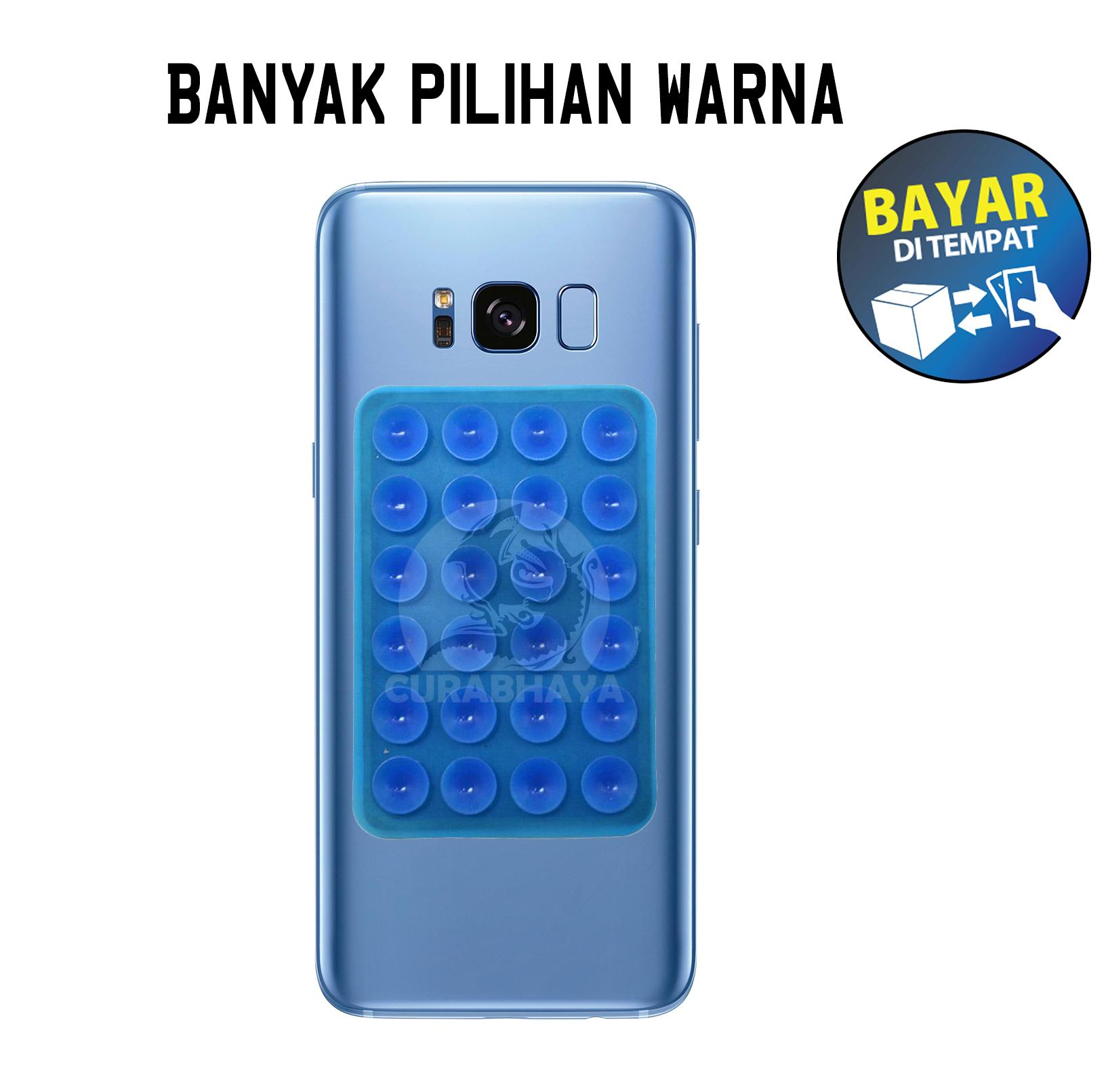 Curabhaya - Tempelan Belakang HP Stand Holder Gurita Universal 24 Tentakel Perekat Vacum Handphone