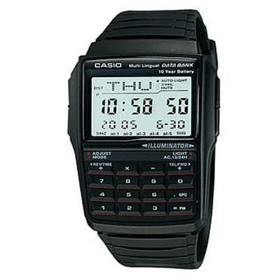 Jam Tangan Casio Original 100%  DBC-32-1A Rubber Karet kalkulator