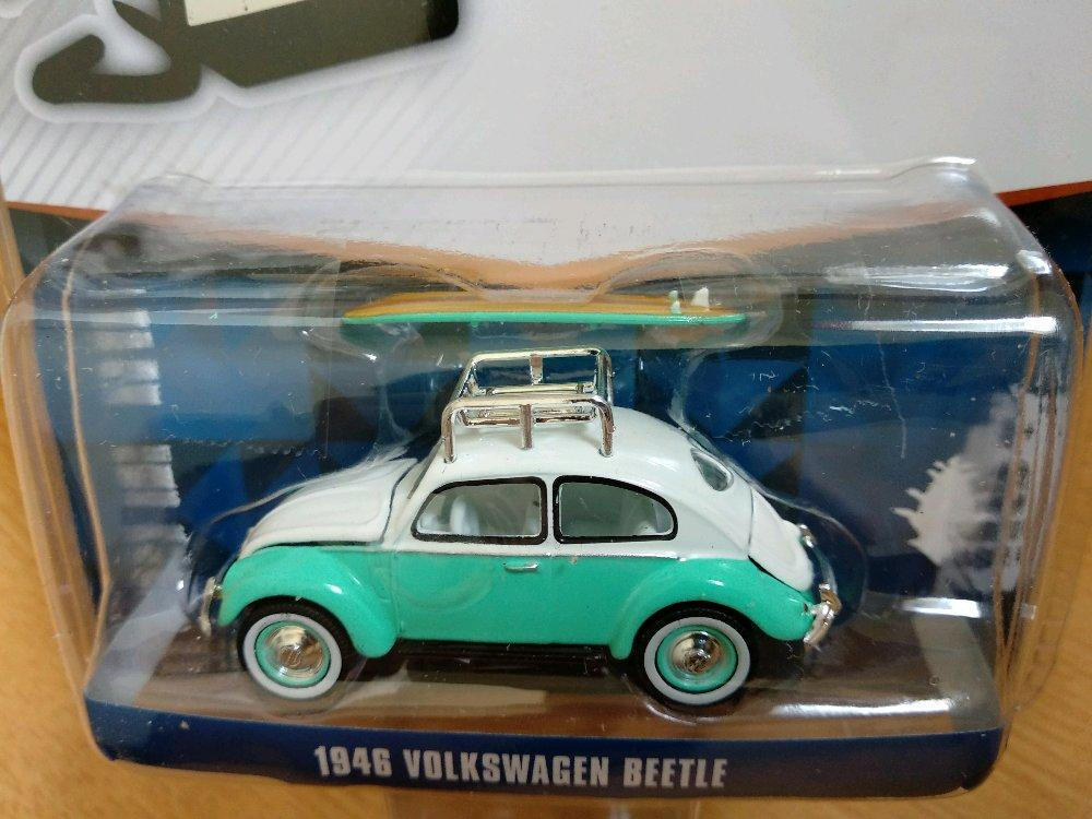 VW Volkswagen Beetle 1946 include Surfing Board Greenlight # Favorit Toys favorit_toys