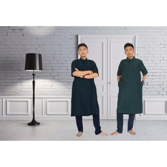Jubah/Gamis/Koko/Baju Muslim Pria Lengan Pendek