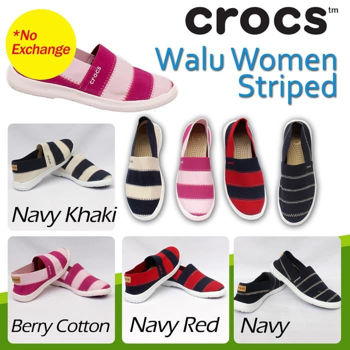 HARGA SPESIAL!!! Crocs Walu Women Stripes - KsvxMu