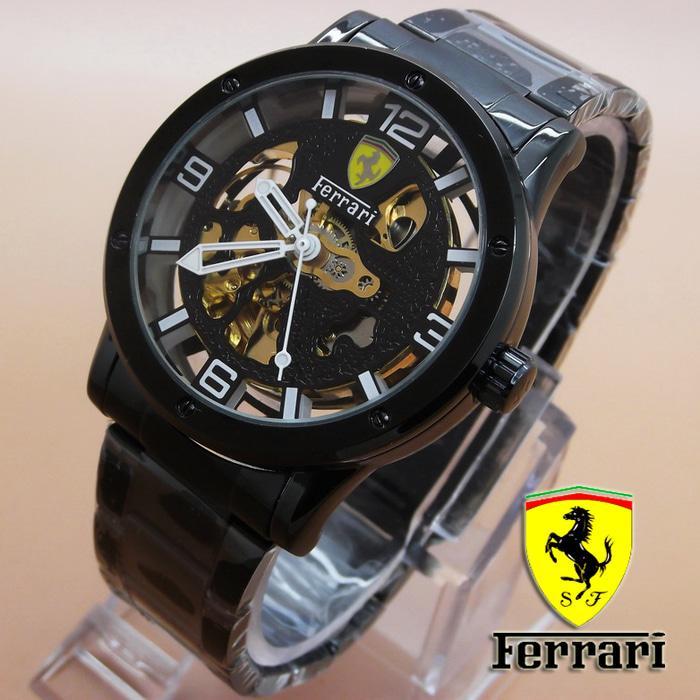 Jam Tangan Pria / Jam Tangan Ferrari Skeleton (Full Black) / Jam Tangan Hight Quality / Jam Tangan Terlaris / Jam Tangan Impor / Jam Tangan Unik