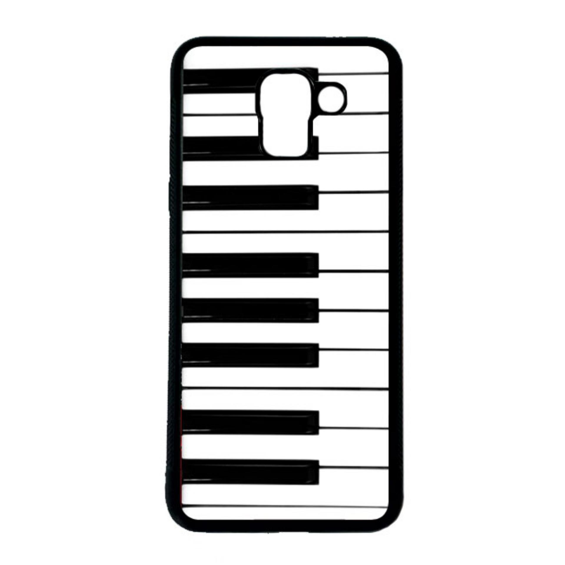 CARSTENEZIO Case Casing Samsung Galaxy J6 Softcase Hitam Motif Keyboard Piano 11