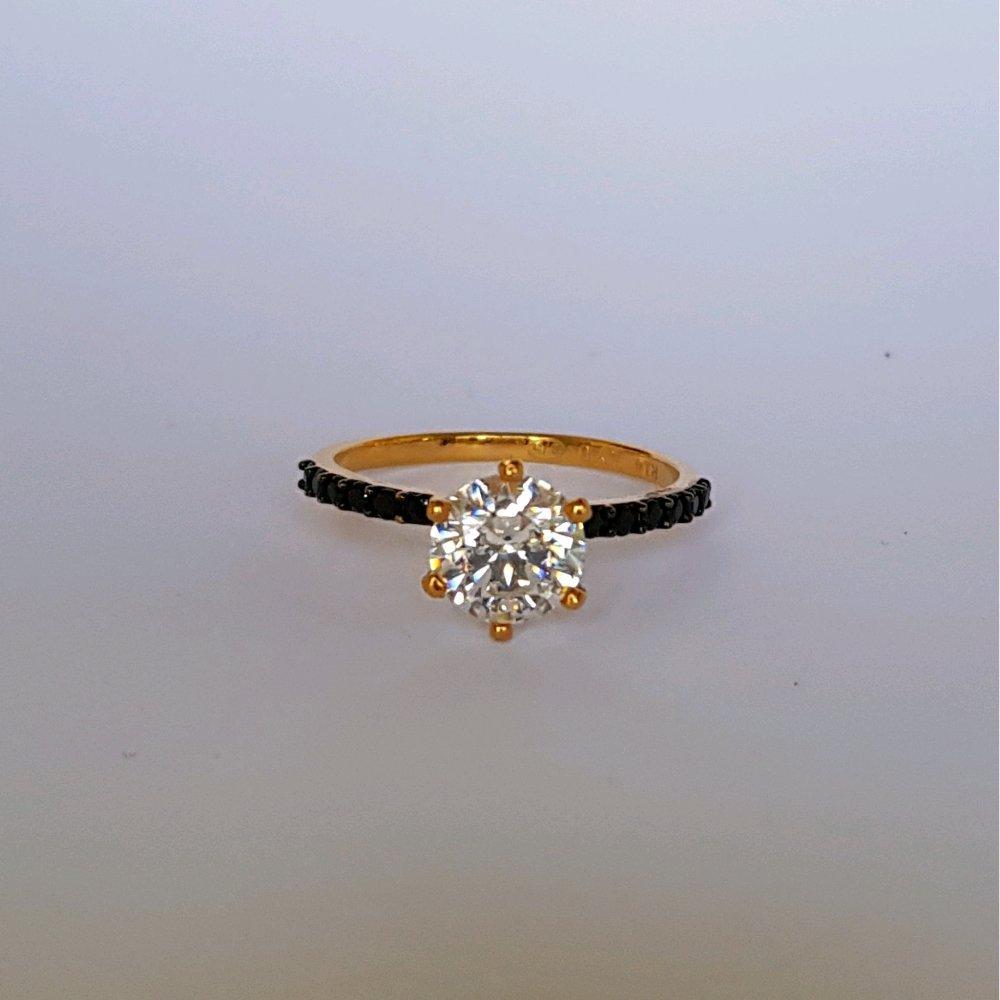 Jual Cincin Emas Karat Wanita Terlengkap Rose Ring Berlian Perhiasan Kawin Size 135 Asli Kadar 875 Gotik Solitaire
