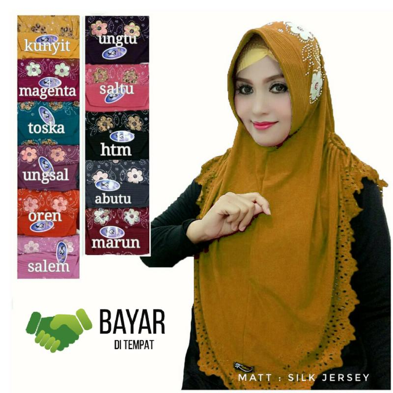 Faimstore Hijab Jilbab Instan SK Kepang Payet Kerudung Instan Payet Murah
