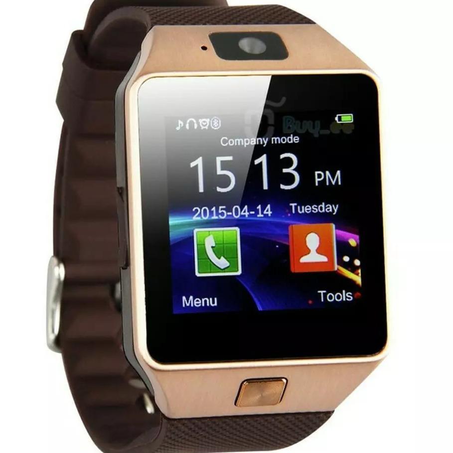 Smartwatch With Camera And Video / Jam Tangan Hp / Jam Ber Kamera / Jam Bisa Telp (Gold)