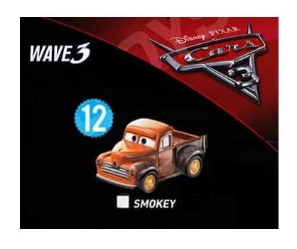 BEST SELLER!!! Wave 3 Sealed - Smokey Disney Cars Mini Racers Diecast no 12 Mattel - mRI41Z