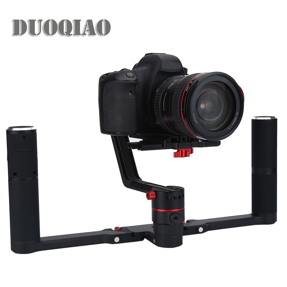 Anti-Shake Pegangan Ganda Stabilizer Genggam Tangan Gagang Grip untuk Kamera Video Camcorder-Intl