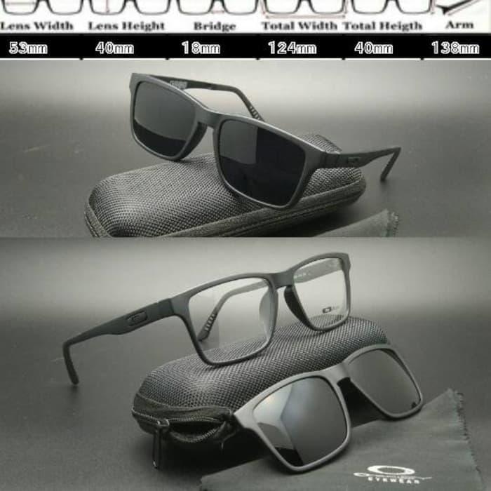 DISKON Frame Kacamata Oakley X8008 Clip On Black doff TERMURAH