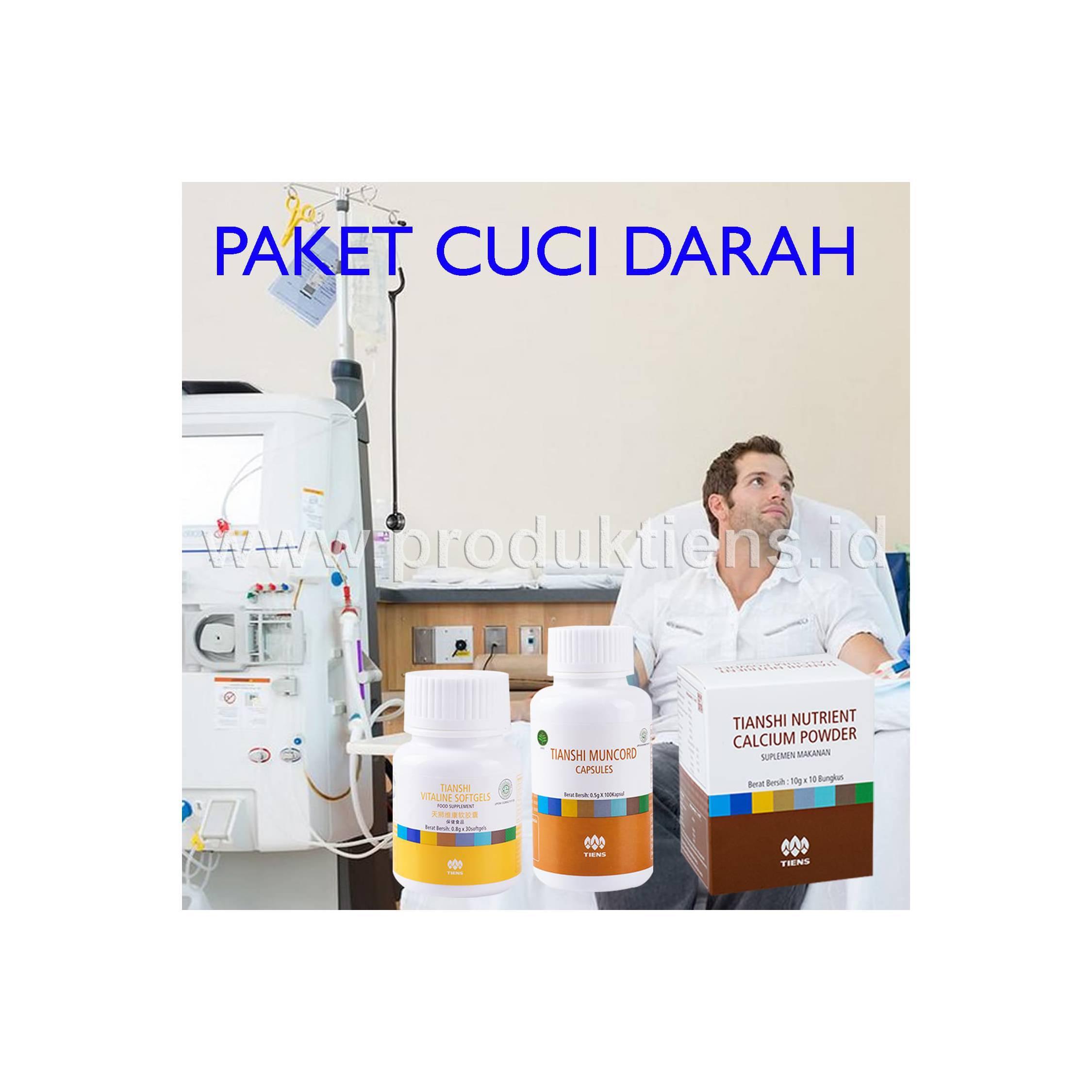 Paket Cuci Darah Setelah Hemodialisis Herbal Tiens Tianshi