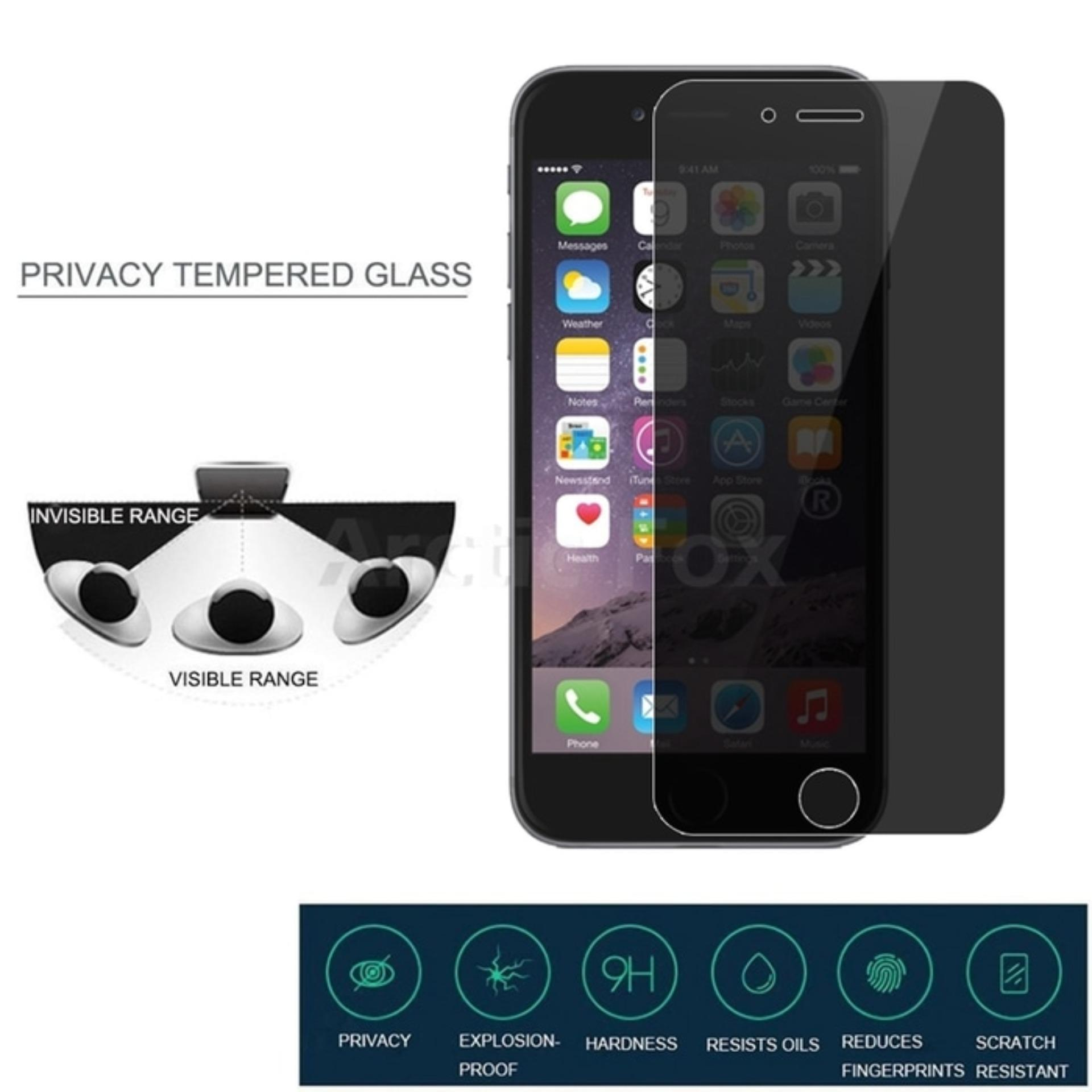 Tempered Glass Anti Spy Iphone 6 / 6S - Black