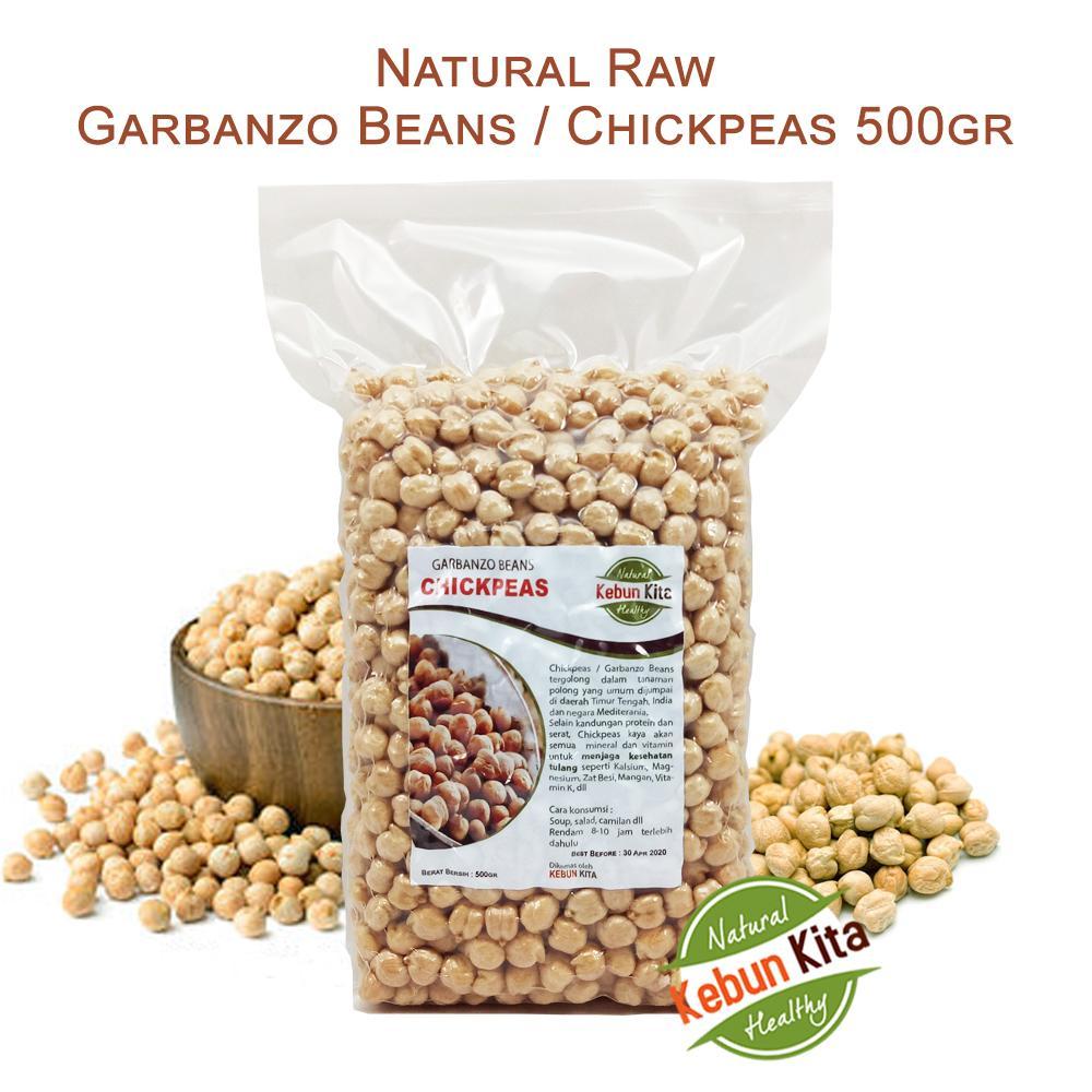 Natural Raw Garbanzo Beans / Chickpeas 500gr