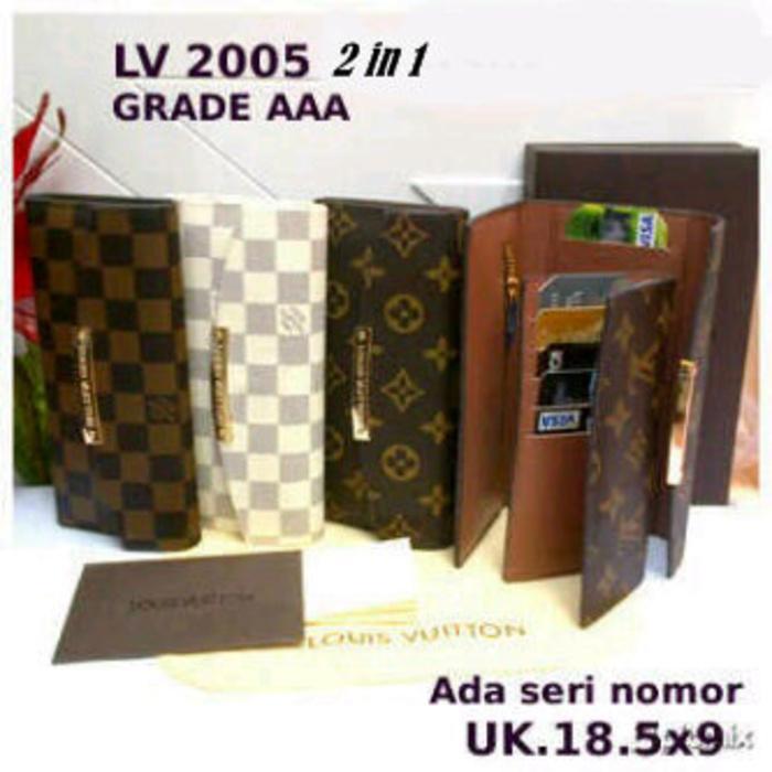 Dompet Louis Vuitton Lipat 3 (LV-2005) super