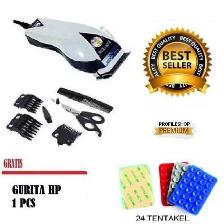 Happy King Profileshop 906 Alat Cukur Rambut Hair Clipper Trimmer Mesin  Potong Professional Groomer 3 Mata 9401d87c1f