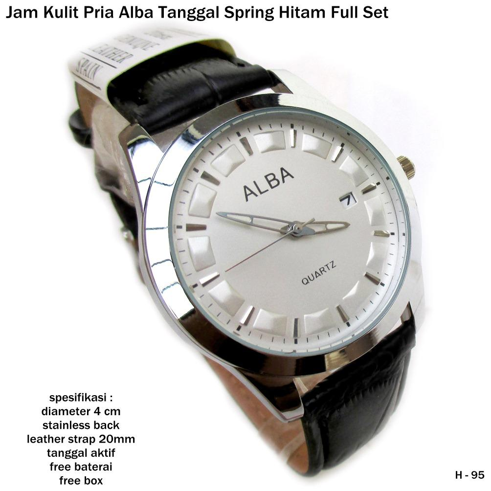 jam tangan pria kulit alba tanggal spring full set