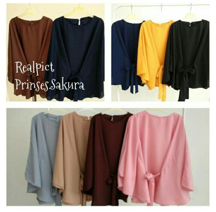 Riana Clove blouse / kekinian blouse / batwing