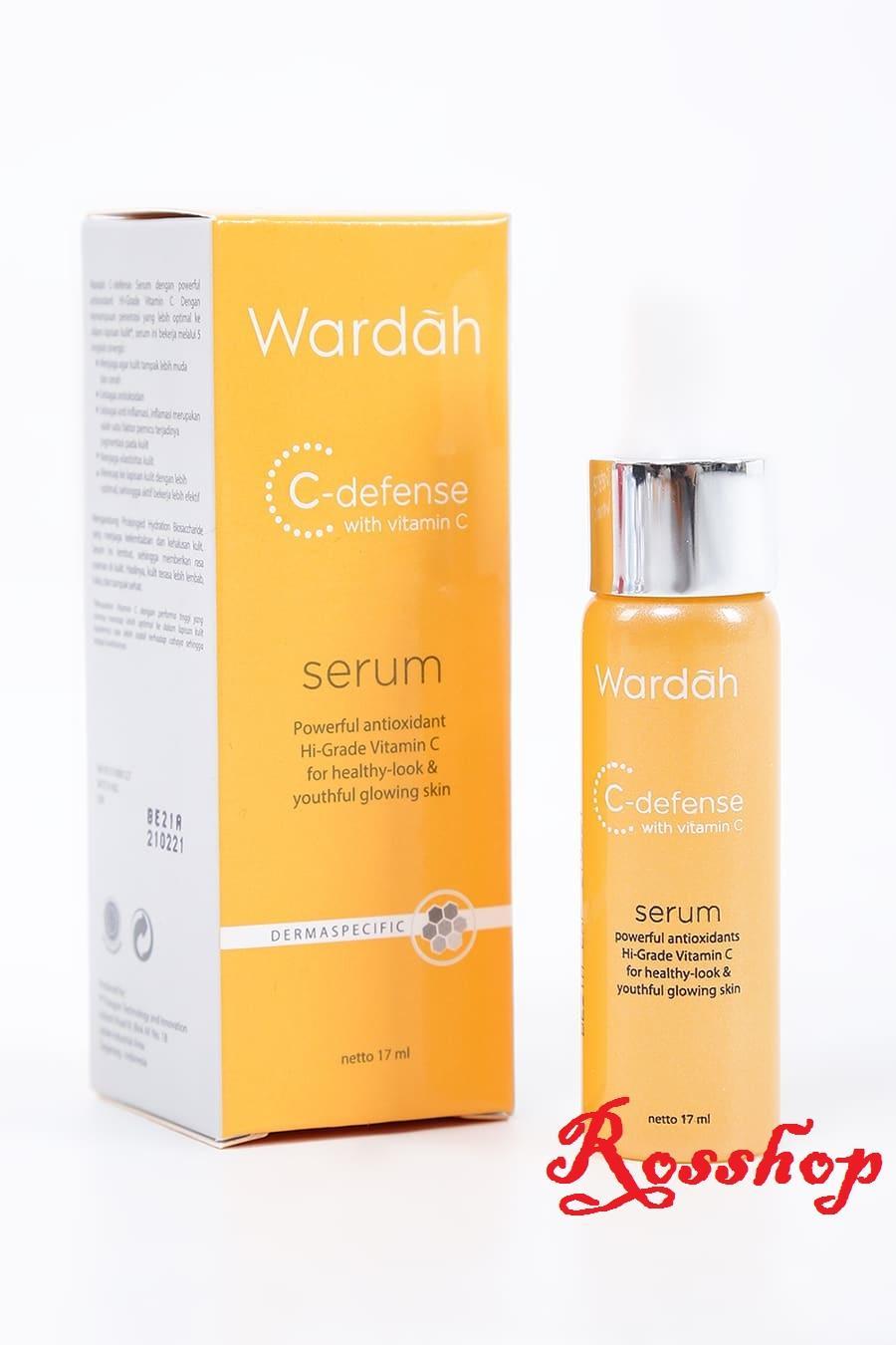 Jual Perawatan Kulit Wardah Essential Facial Scrub 600 Ml C Defense Serum Vitamin 17ml