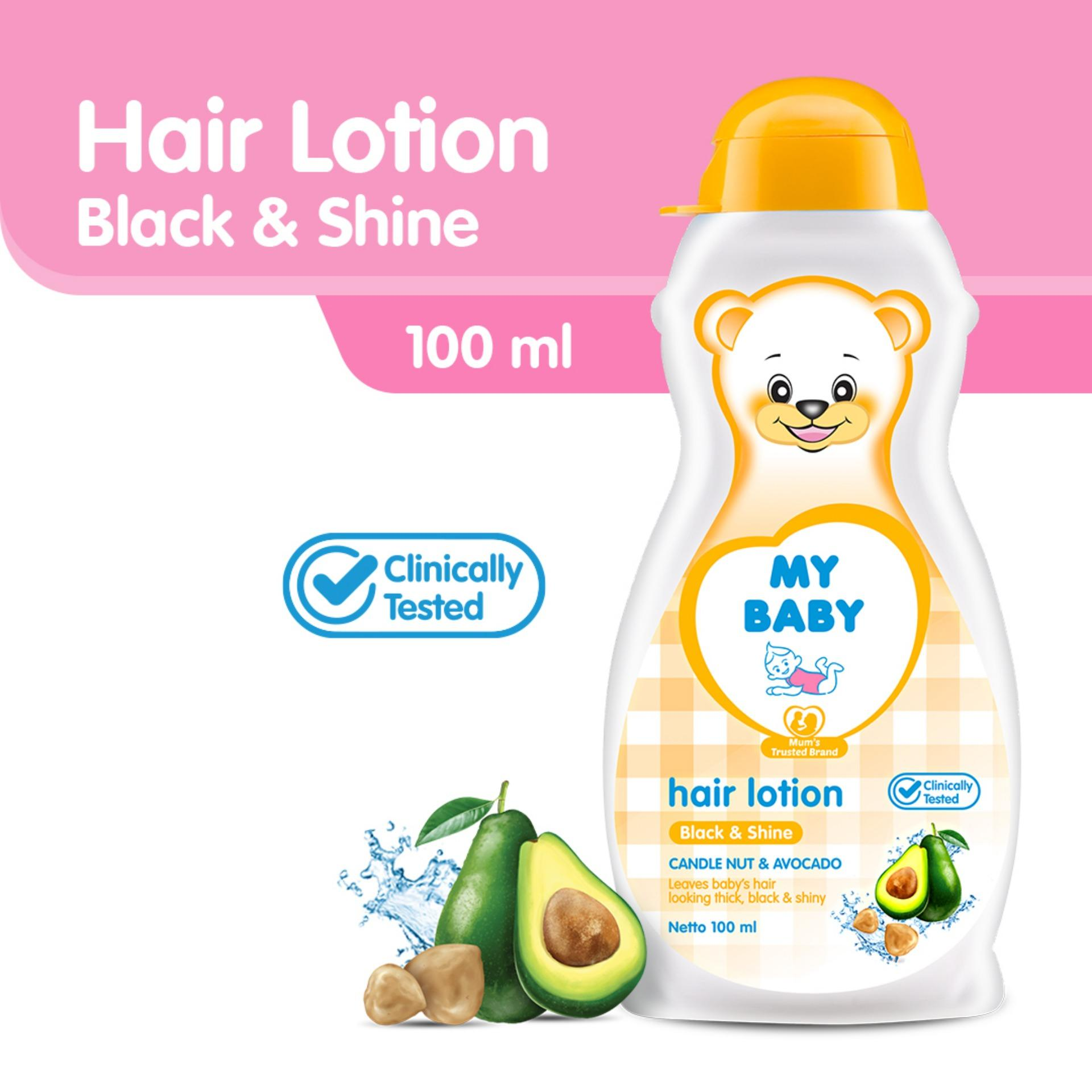 My Baby Hair Lotion Black & Shine [100 Ml] By My Baby Official Store
