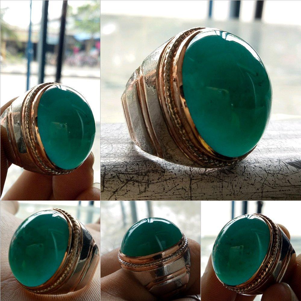 Bacan Palamea Galian Lawas Serat Halus Warna Segar Ring Perak Pesanan Combinasi Suasa