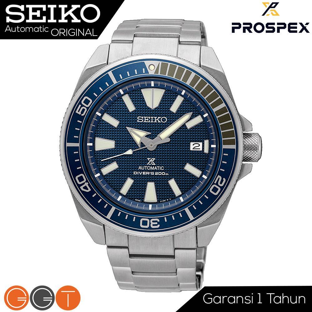 Seiko Prospex Samurai SRPB49K1 Automatic Divers Blue Texture Dial Stainless Steel Strap - Automatic Movement - SRPB49K1 Promo