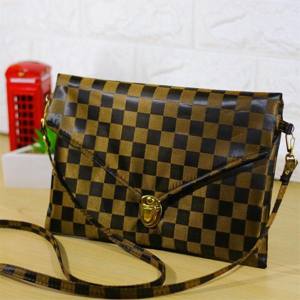 Tas Selempang Envelope Sling Bag Hand Bag Clutch Wanita Amplop Multifungsi  - Chess 3d0ba29d5c