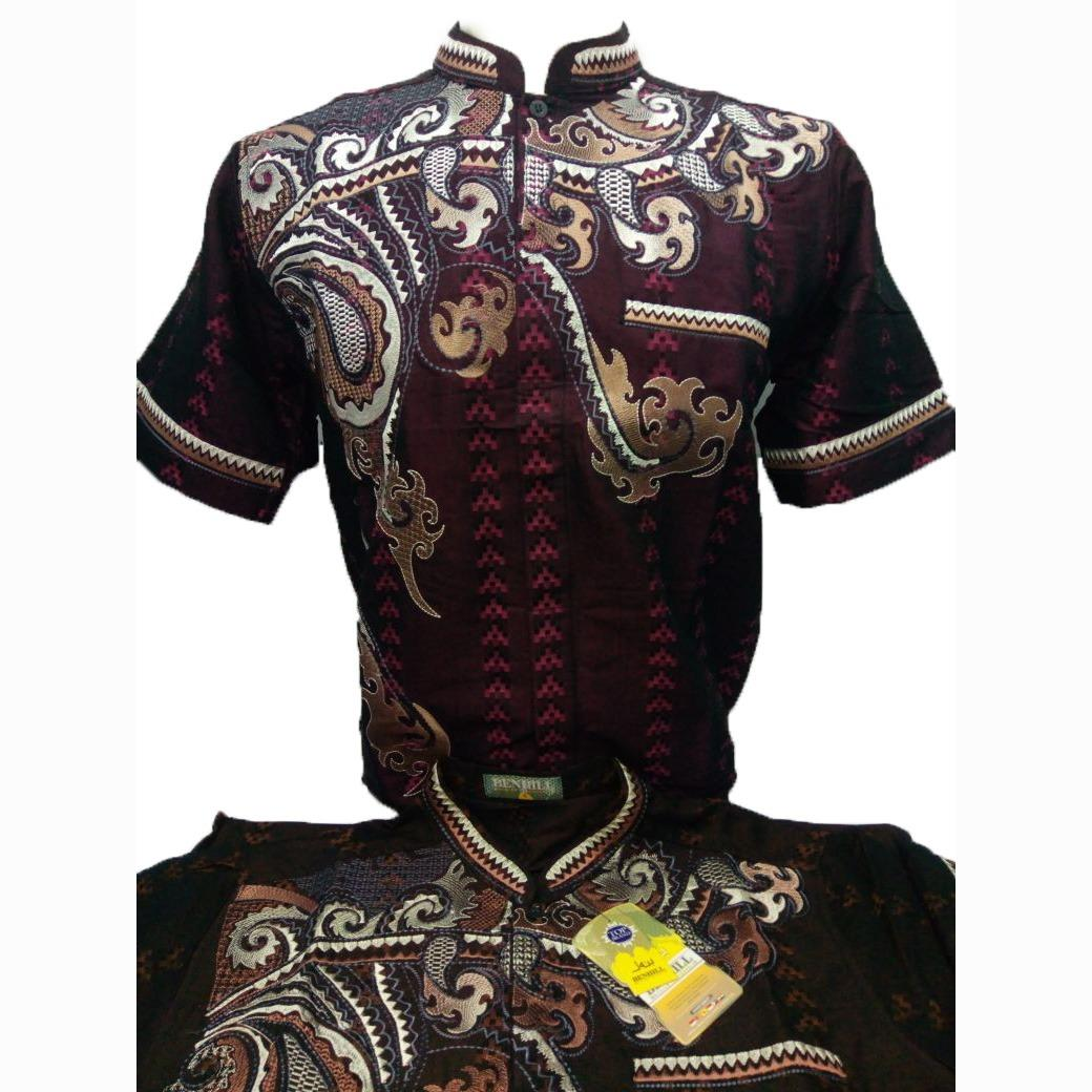 Baju Muslim / Baju Koko / Kemeja Muslim Pria Lengan Pendek - Merk Benhill - Toko Sumber Rejeki Jeans