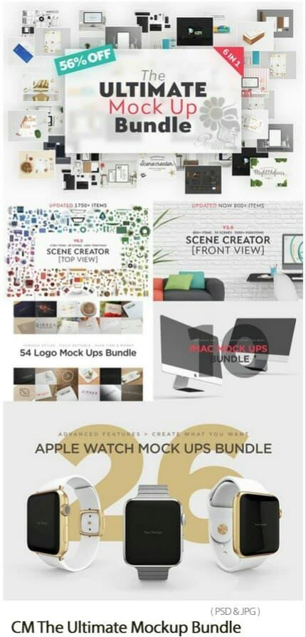 Promo CreativeMarket The Ultimate Mockup Bundle original