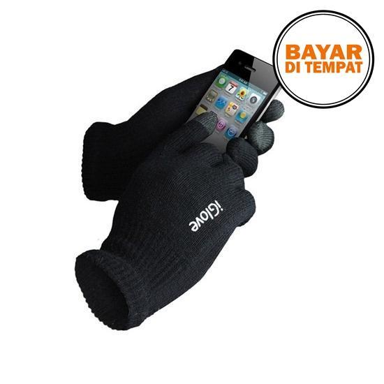 Iglove Touch Gloves For Smartphones & Tablet - Black / Hitam / Red / Merah / Blue / Biru / Pink / Brown / Coklat / Gray / Abu - I-Glove Aksesoris Motor Sarung Tangan Sentuh Layar Kapasitif Capasitive Screen Hp Android Iphone Ios Gadget Tablet