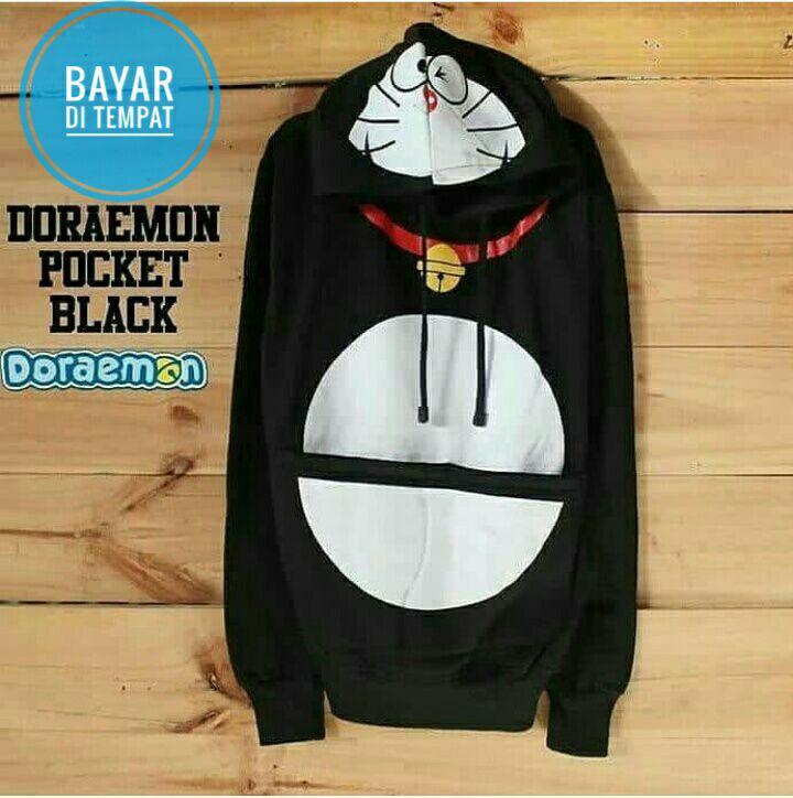 Jaket Sweater Doraemon Kantong Ajaib Black JMM