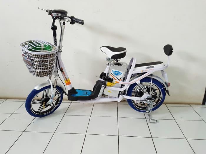 Hemat 10%!! Sepeda Listrik Terbaru Mars Platinum Buat Kendaraan Motor Tanpa Sim - ready stock