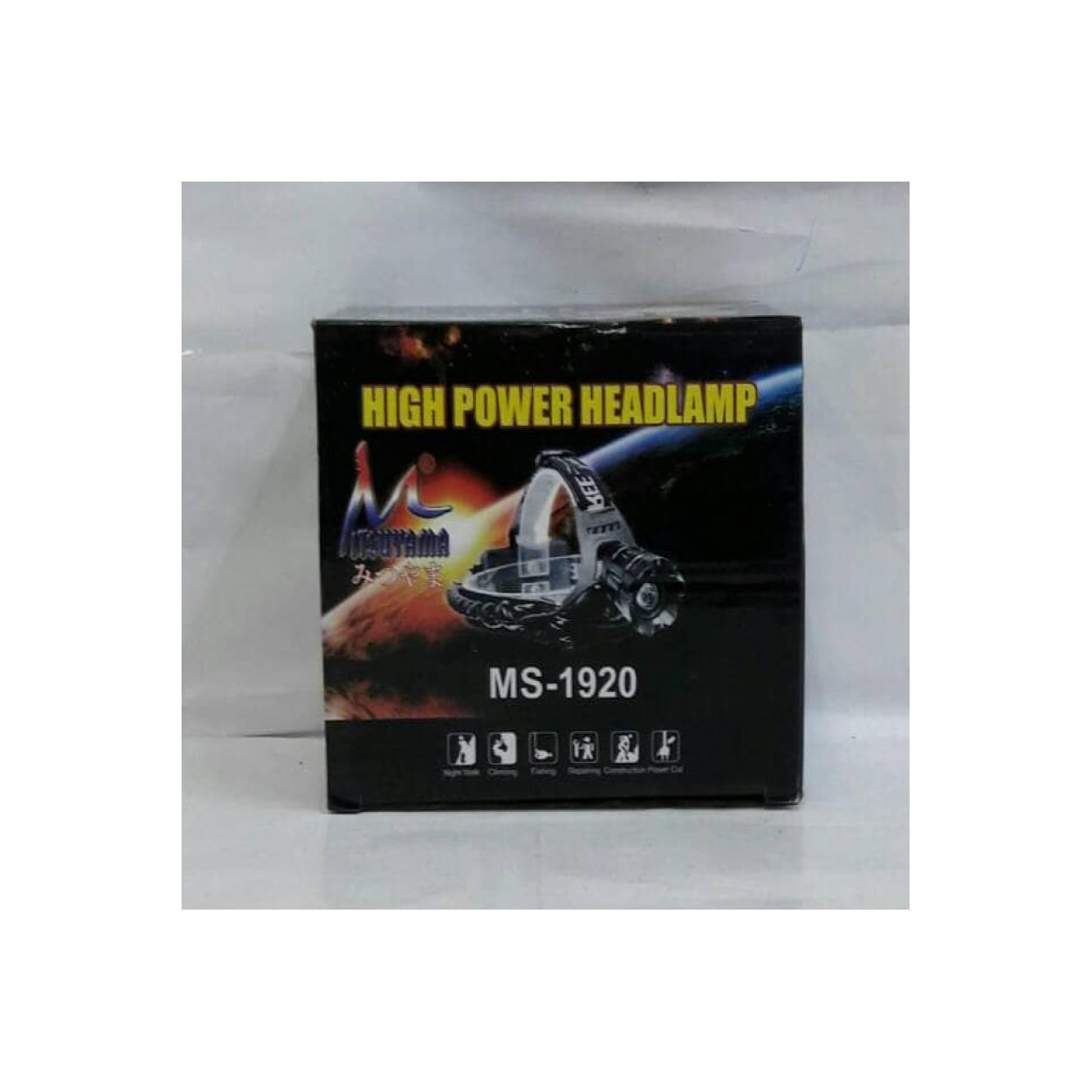 Jual Headlamp Mitsuyama Ms Murah Garansi Dan Berkualitas Id Store Senter Kepala Model Mata Kucing Rp 224000