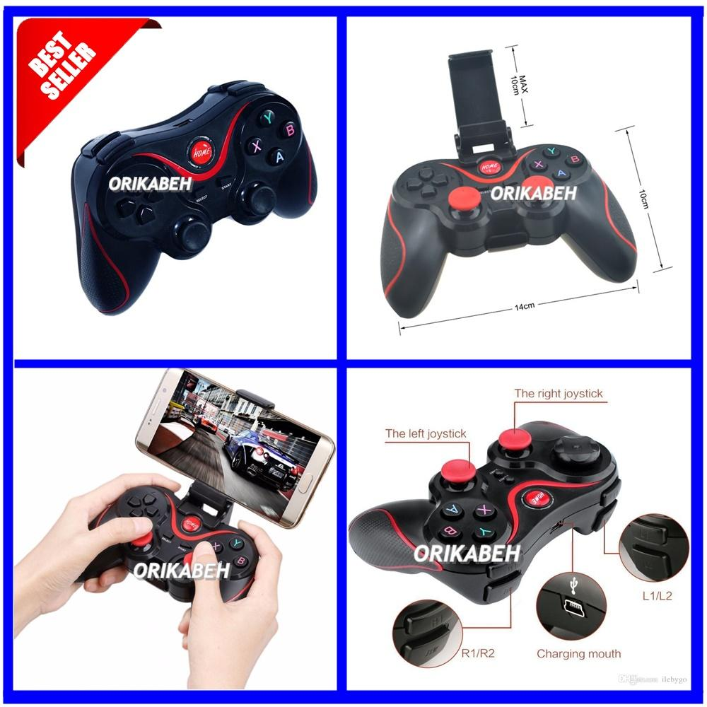 Universal Gamepad Bluetooth Terios T3 For All Smartphone + Holder HP [ ORIKABEH ]