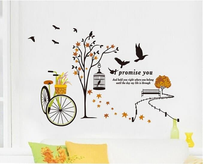 WALLPAPER STIKER TRANSPARAN 60X90 CM JM7248 I Promise You wallsticker wall sticker stiker dinding