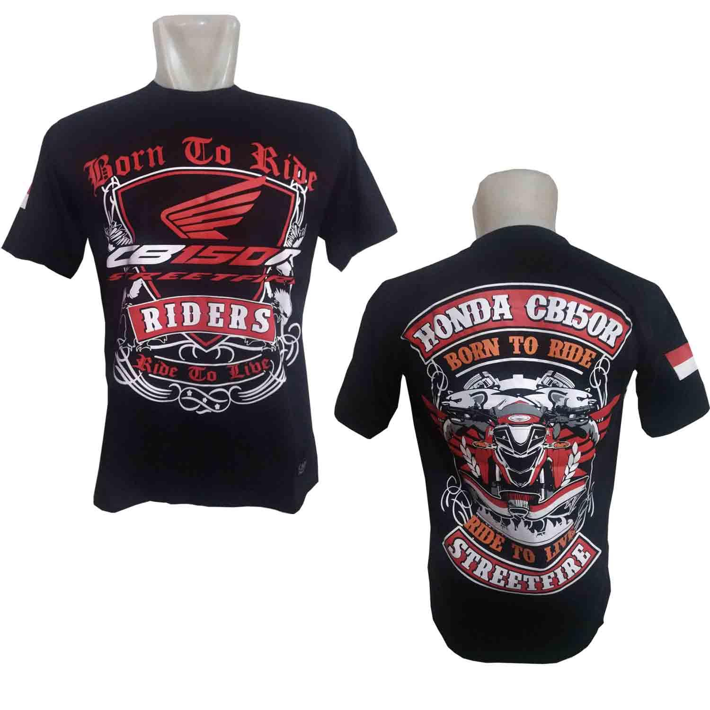 CADEL Kaos CB150R Streetfire Baju Distro Bikers Honda Motor BONUS Stiker CADEL Bandung