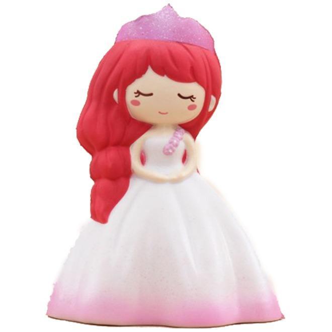 Squishy Princess Elsa Squishy Princess Girl In Wedding Dress Squishy Putri Kerajaan Jumbo 14cm Slow Rising- Merah