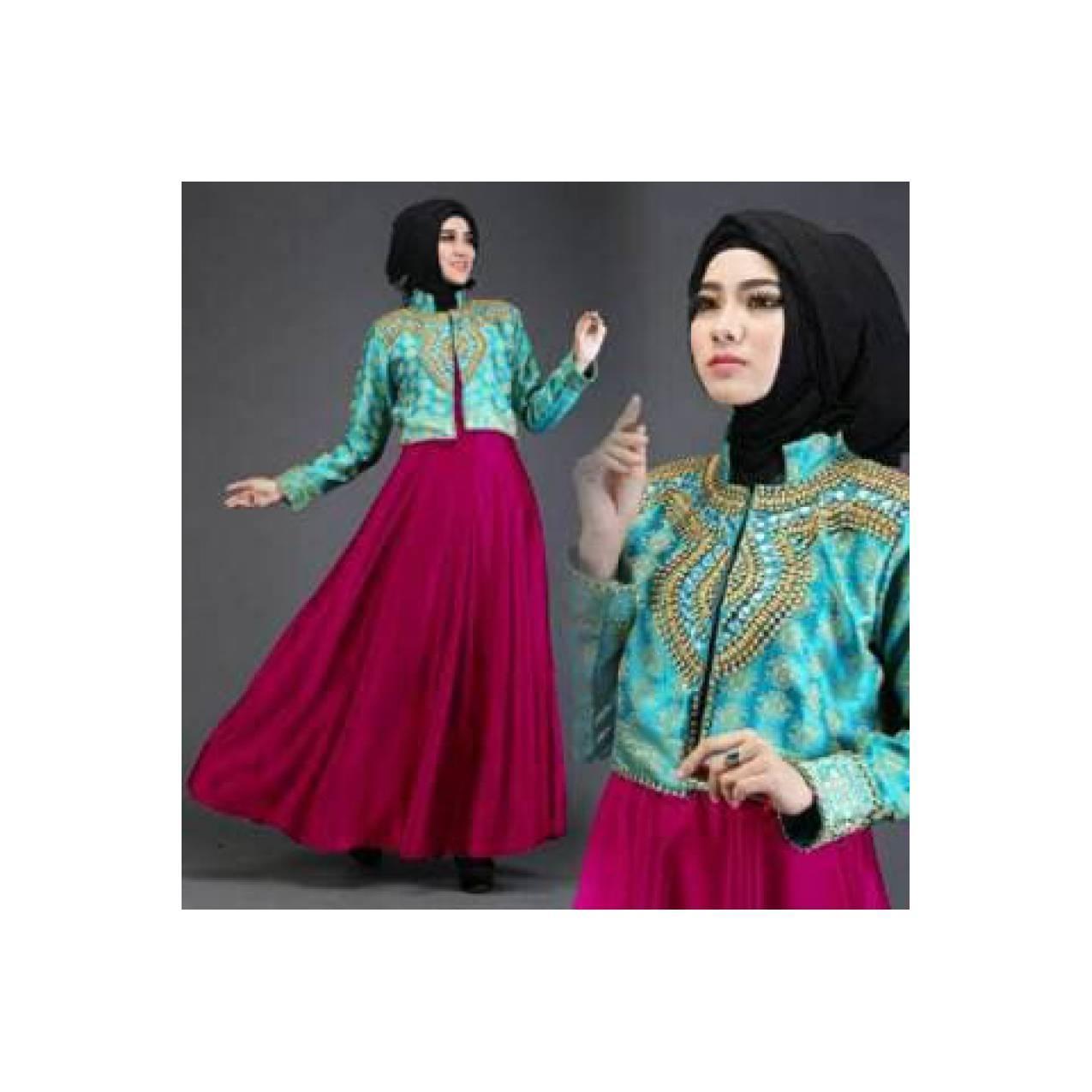 Produk Ramadhan DIAN FARAH PELANGI TOSCA-FANTA hijab maxi dress