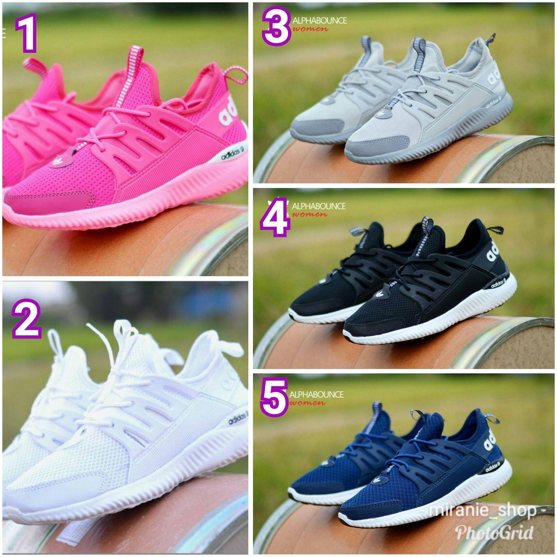 Sepatu Adidas Alphabounce size 36-40 Sepatu Wedges Wanita Import