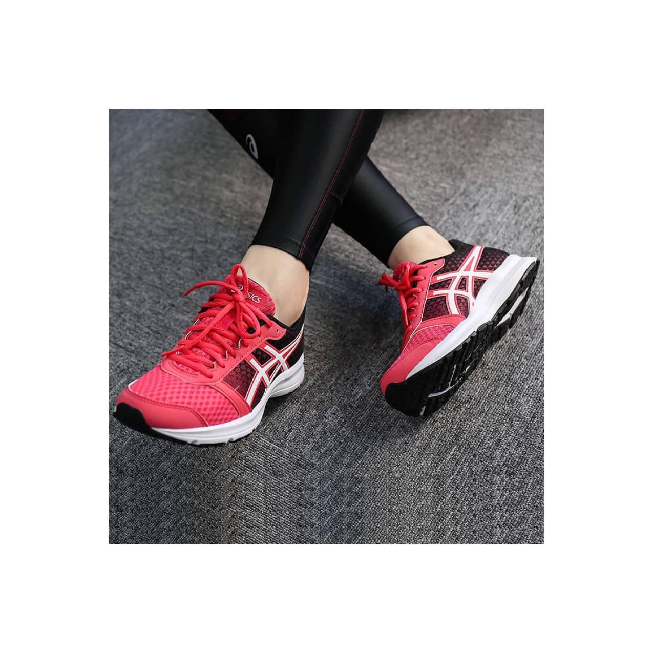 Sepatu Running ASICS Patriot 8 Original (Women) - Merah Muda 32491a3316