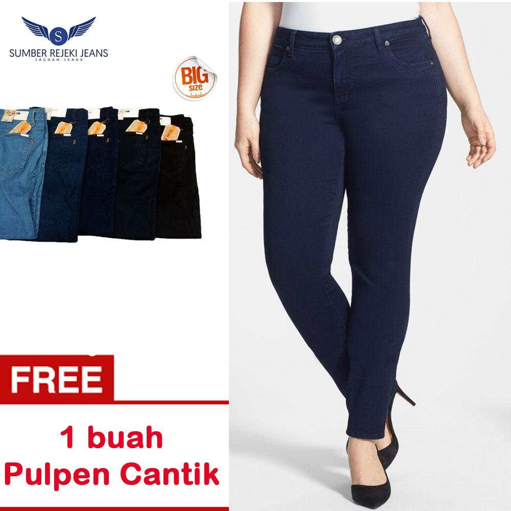 Celana Jeans Jumbo / Jeans Wanita Big Size / Skinny Jeans / Celana Panjang Jeans /