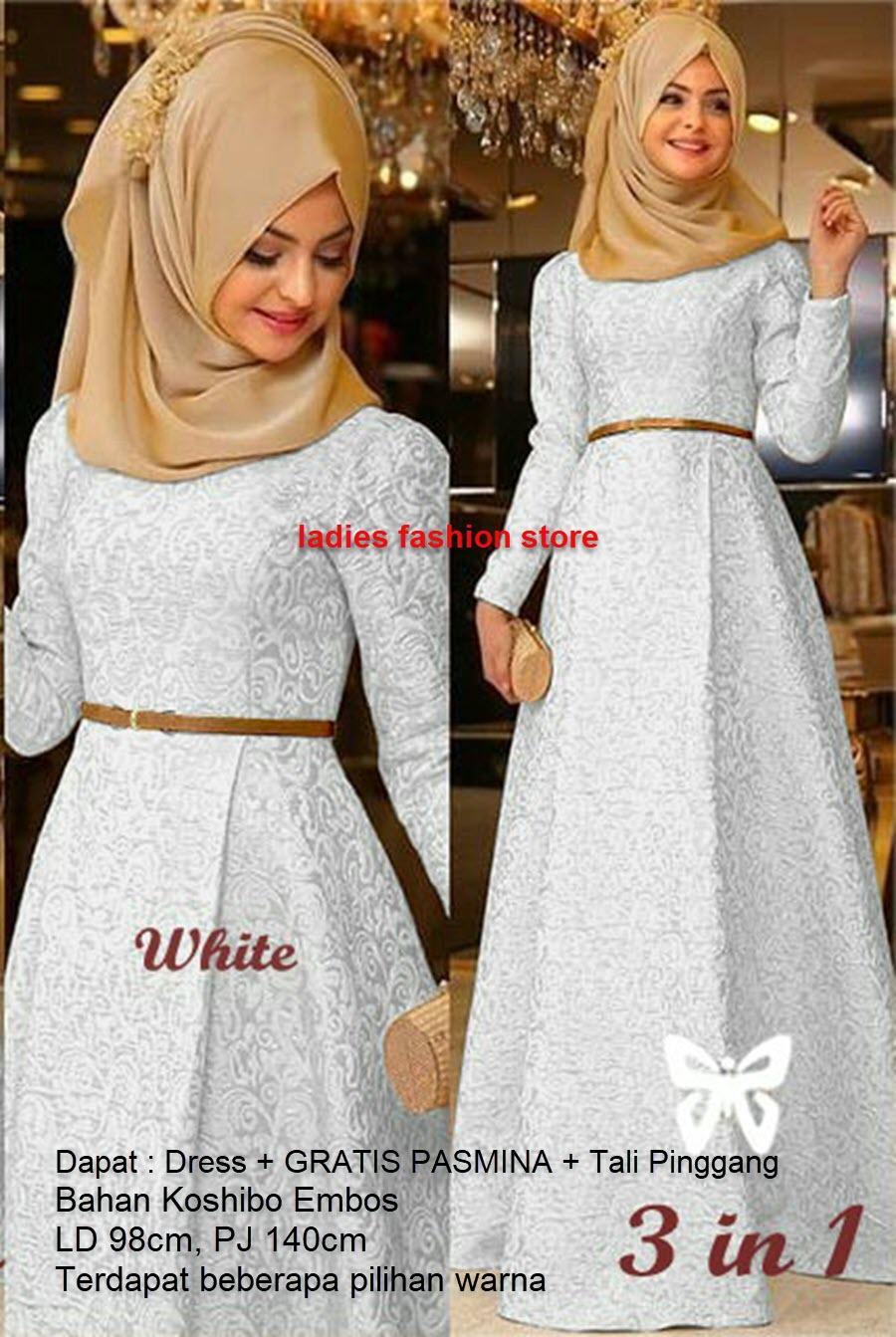 Gamis Wanita / Muslimah Modern / Gamis Remaja Polos Murah / Dress Pesta Gamis Model Baru / Gamis Modern Gaun Gamis Baloteli Wolfis / Dress Cewek Muslimah / Hijab Muslim / Muslim Syari Hijab Syar'i / Busana Muslim / Atasan Gamis Murah (Mirahza) SS - PUTIH
