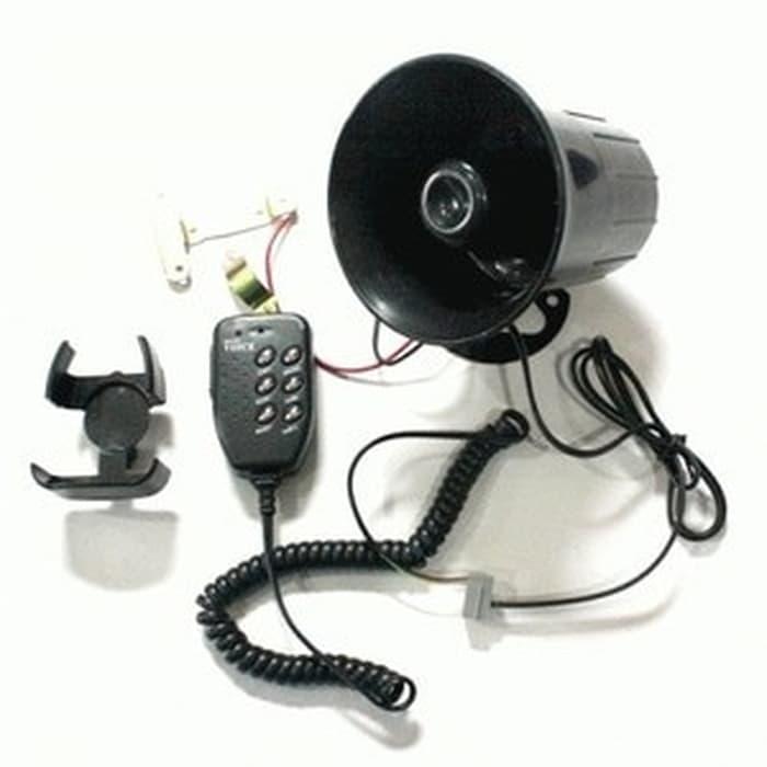 klakson sirene+mic sirine 6 mode bunyi toa polisi kencang berkualitas | ( klakson motor mobil keong