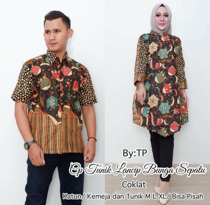 TERMURAH - Baju Batik Couple   Baju Muslim Wanita Terbaru 2018   Tunik Batik    Gamis 1de5972584