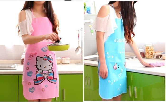 AD028 Celemek Masak Dapur Anti Air Minyak / Home Plastic Kitchen