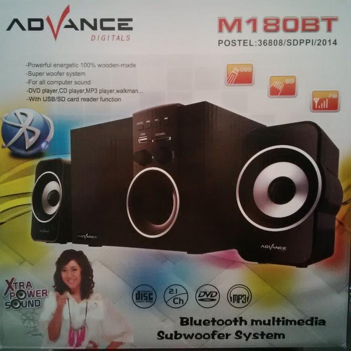SPEAKER ACTIVE + SUBWOOFER ADVANCE M180BT +BLUETOOTH + RADIO