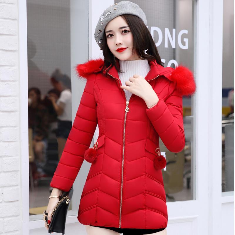 Pakaian Katun Korea Fashion Style Bulu Angsa Jaket Katun Modis Bagian Panjang