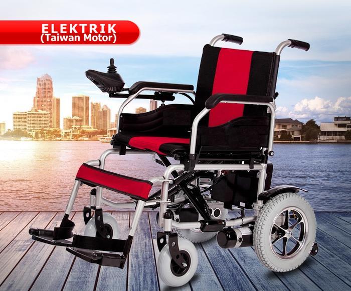Kursi Roda Elektrik (Motor Taiwan) Electromagnetic Brakes