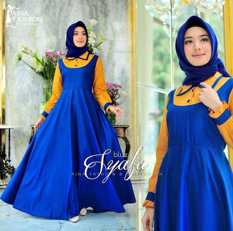 TERLARIS Baju Dress Remaja SYAFA DRESS Gamis Murah Bandung