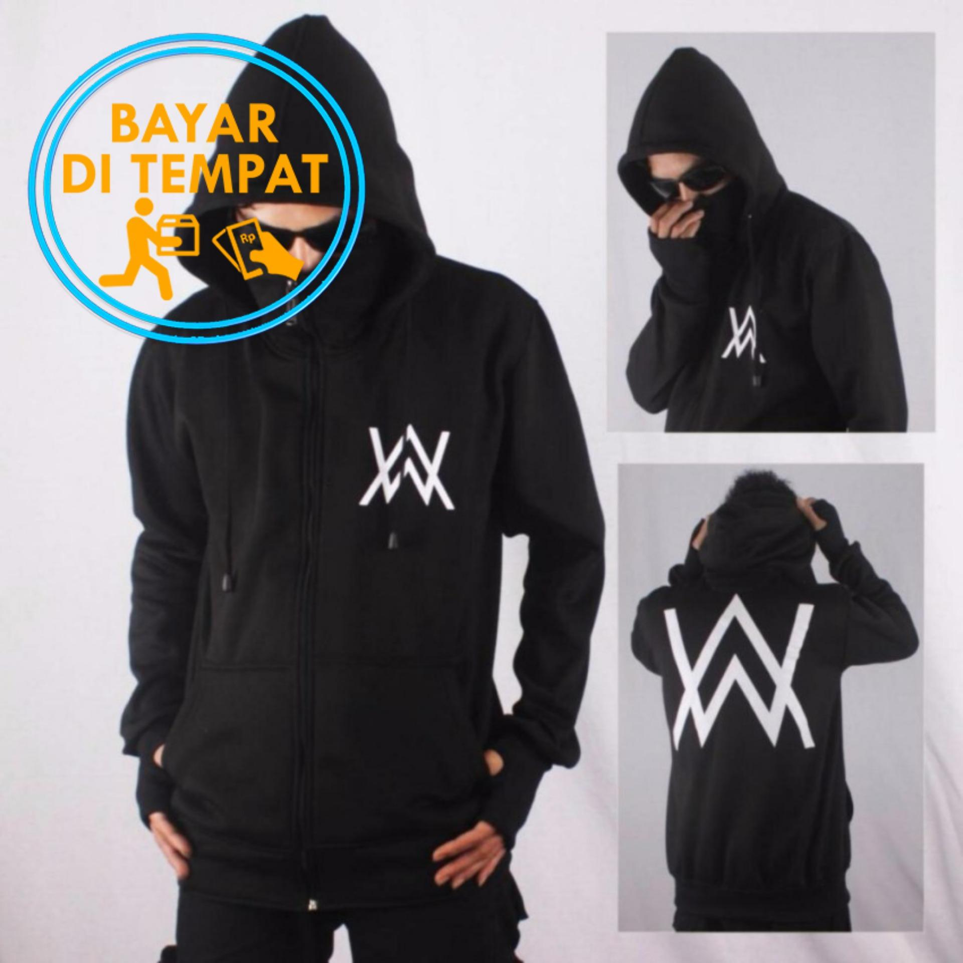 Jaket Sweater Ninja Masker Alan Walker Hitam