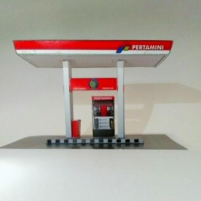 Diorama Diecast Skala 1/64 - Miniatur Pom Bensin Pertamini - Kapkzk