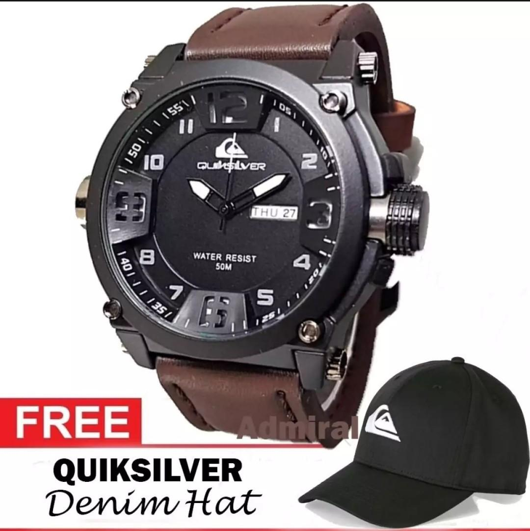 Quiksilver Outdoorwatch   Ocean surfing - Jam Tangan Sport   Kasual Pria -  Genuine Leather Strap 83d3346ab4